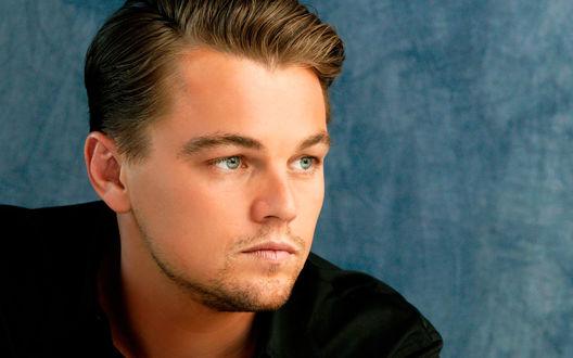 Обои Актер Леонардо ДиКаприо / Leonardo DiCaprio  смотрит в сторону