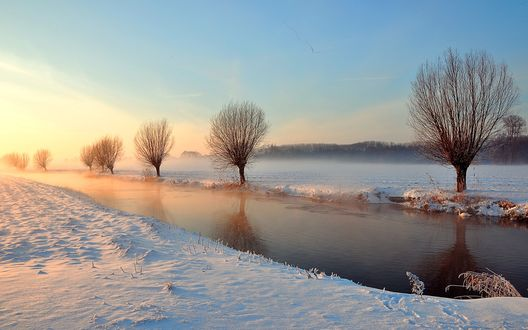 Обои Зимний рассвет