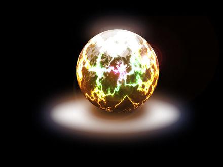Обои Магический шар с молниями внутри