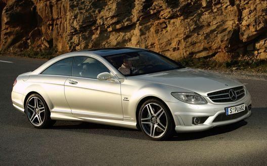 Обои Mercedes_CL65_AMG в горах