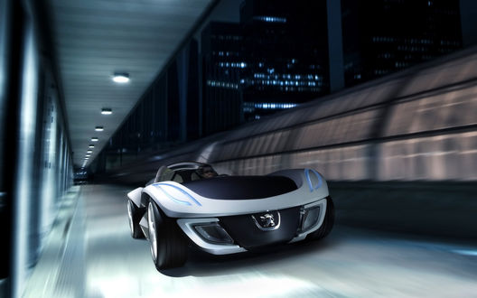 Обои Peugeot_Flux_Concept_2007 в туннеле