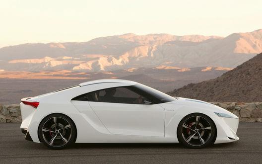 Обои Toyota_FT_HS_Concept в горах