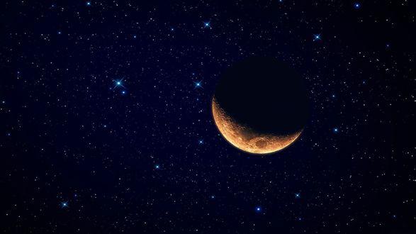 Обои Луна и звезды