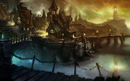 Обои Сказочная деревня
