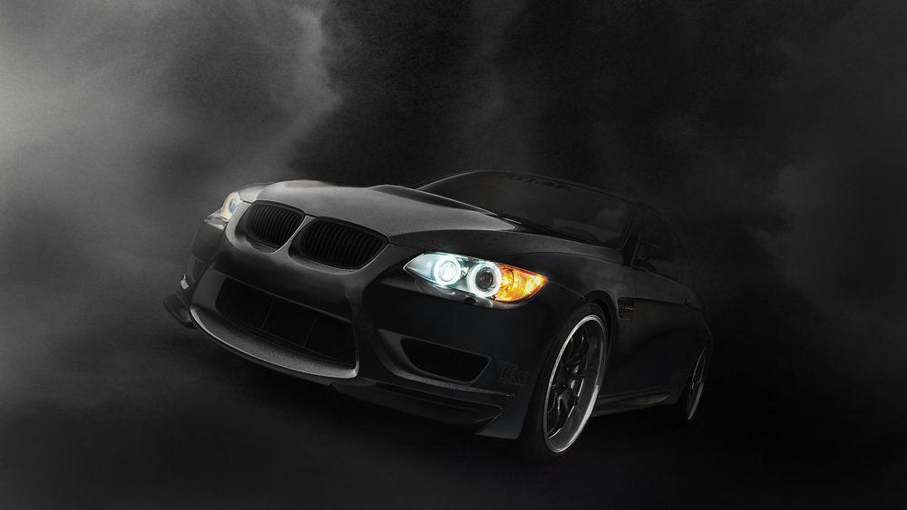 Обои для рабочего стола Чёрное авто BMW Coupe / БМВ Купе