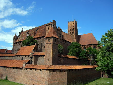 Обои Замок Мальборк / Malbork, Мариенбург /  Marienburg, Польша