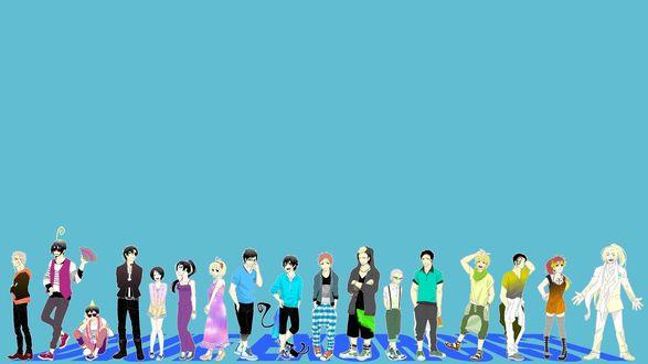 Обои Персонажи аниме Синий Экзорцист  (BLUE EXORCIST)