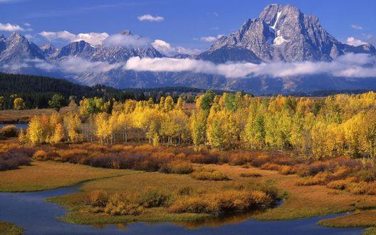 Обои Горы, вершины которых выше облаков
