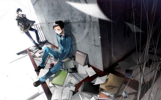 Обои Изая и Микадо из аниме Durarara