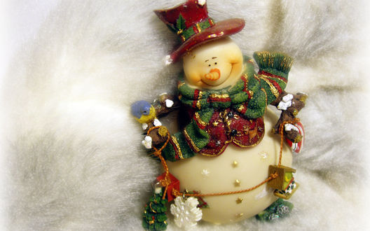 Обои Декоративный снеговичок