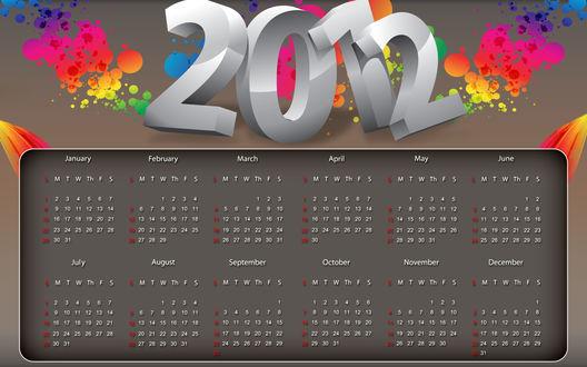 Обои Календарь 2012 года