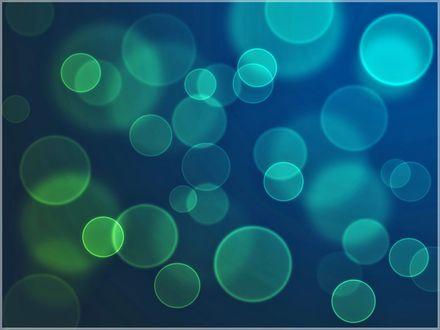 Обои Абстракция, светящиеся шарики