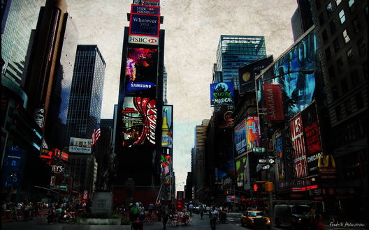 Обои Times Square, Нью-Йорк / New-York (Frederik Holmstrom)