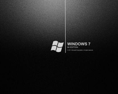 Обои Черные обои (Windows 7 64 edition © 2011 Microsoft Corporstion sll rights reserved)