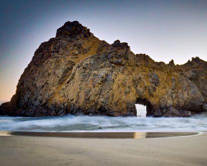 Обои Пляж Биг-Сур в Калифорнии / Beach Big Sur,California