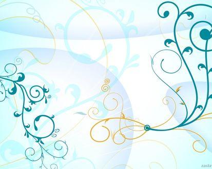 Обои Синие и коричневые полосы в виде узоров