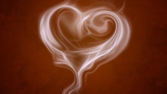 Обои Сердце из белого дыма