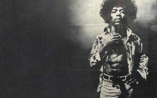 Обои Боб Марли / Bob Marleyна черном фоне
