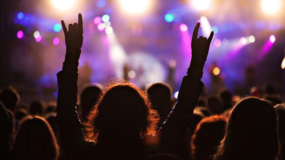 Обои Люди на рок - концерте