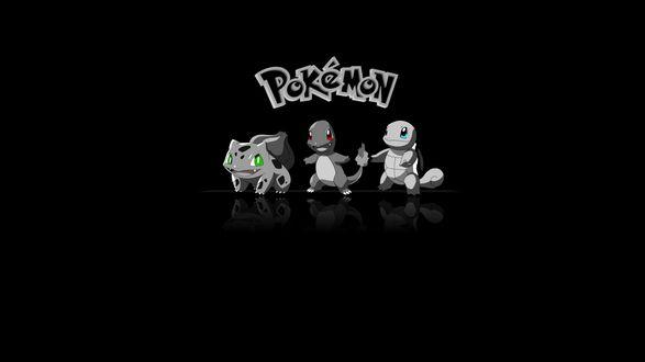 Обои З покемона на черном фоне (Pokemon )