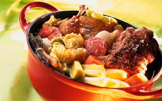 Обои Тушёные овощи с мясом