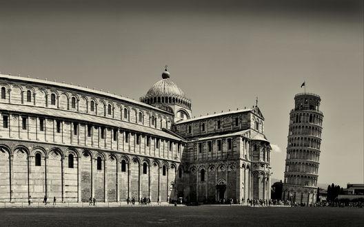 Обои Пиза, Пизанская башня, Италия / Pisa, Leaning Tower of Pisa, Italy