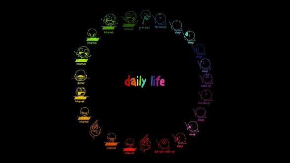 Обои Цепь будничной жизни (daily life)