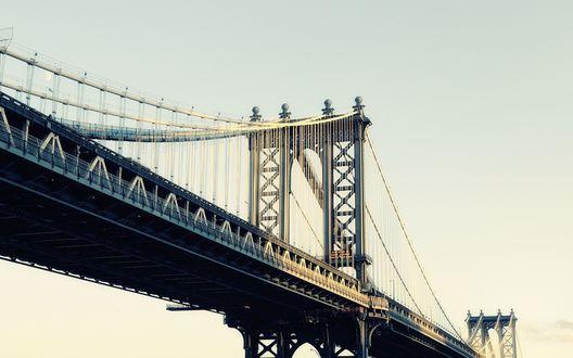 Обои Мост в Манхеттон / Manhattan Bridge, Нью-Йорк / New York City, США / USA