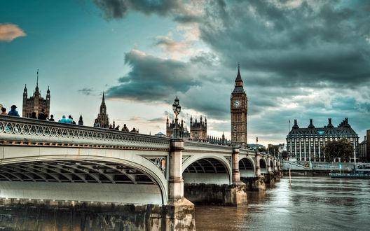 Обои Туманный Лондон / London, Великобритания / Great Britain