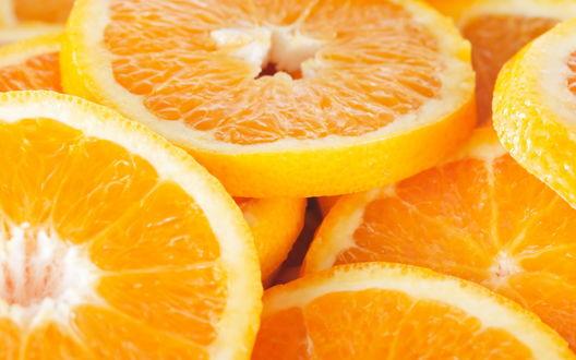 Обои Дольки апельсина