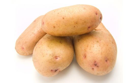 Обои Картофель на белом фоне