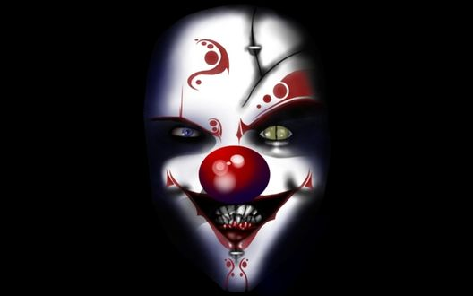 Обои Лицо злобного клоуна