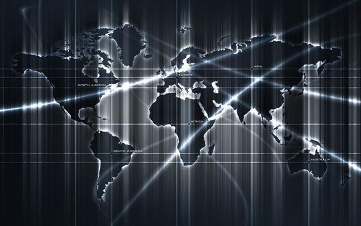 Обои Карта мира (North America, South America, Europe, Africa, Asia, Australia)