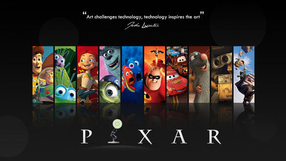 Обои Мультфильмы от Пиксар / Pixar (Art challenges technology, technology inspires the art)