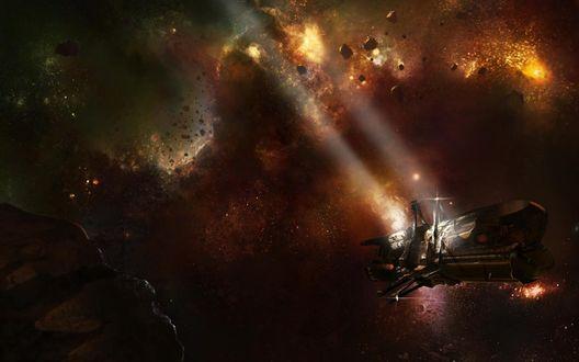 Обои Космический корабль - игра Dead Space 2 / Мёртвый космос 2