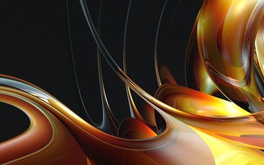 Обои Абстракция - тягучие переливы красок