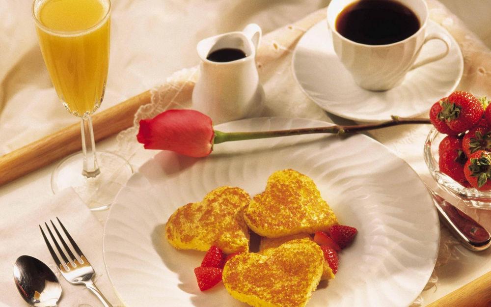 Открытки вкусный завтрак, августа