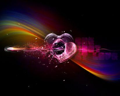 Обои Сердце разбилось от одного выстрела