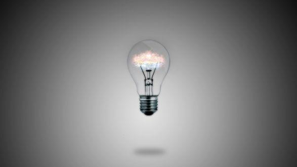 Обои Заряд в лампочке