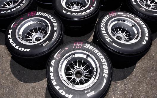 Обои Колёса от компании Bridgestone Potenza F3E3