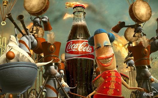 Обои Кадр из рекламы Кока-Колы / Coca-cola