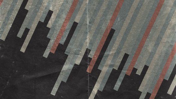 Обои Диагональные полосы на потертом бумажном развороте
