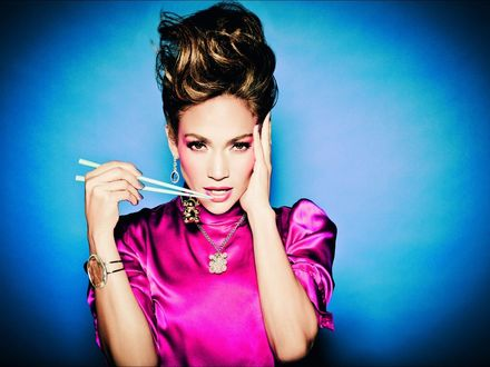 Обои Дженнифер Лопес / Jennifer Lopez 'с японскими палочками'