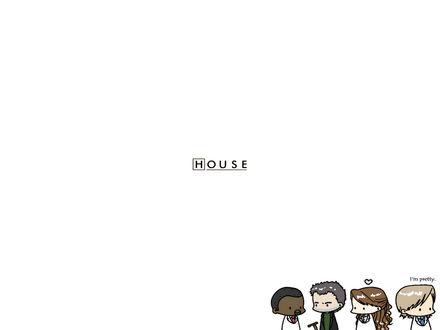 Обои Рисунок команды доктора Хауса / House M.D. (I'm pretty)