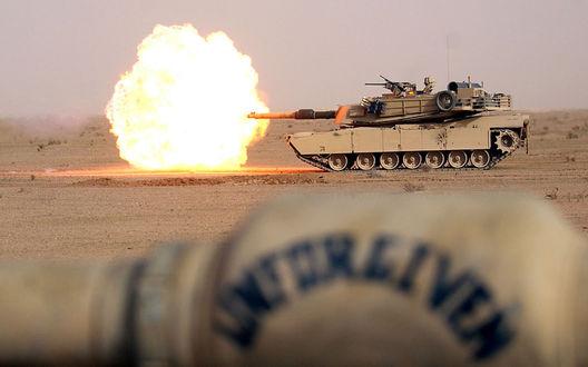Обои Танки M1A1/2 Abrams / М1А1/2 Абрамс на стрельбах