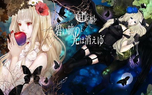 Обои Обложка альбома японской певицы Asriel в стиле готической Лолиты