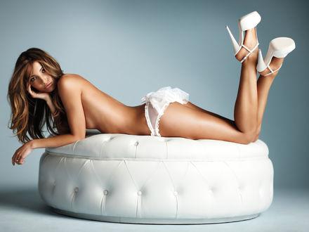 Обои Лили Олдридж / Lily Aldridge в нижнем белье из свадебной коллекции Victoria's Secret