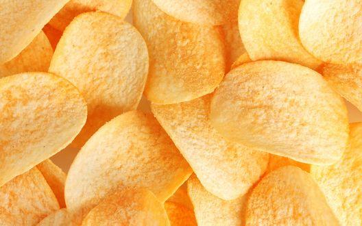 Обои Хрустящие золотистые чипсы
