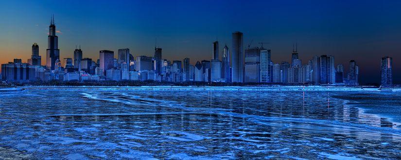Обои Chicago / Чикаго в неоновом свете