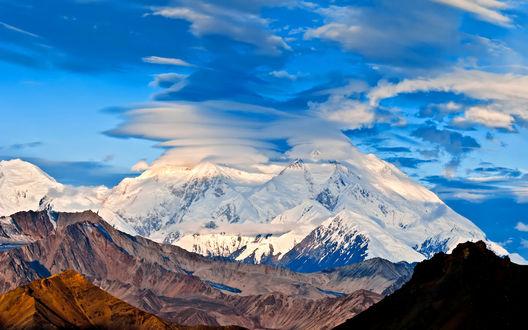 Обои Гора Мак-Кинли / Mount McKinley, национальный парк Денали / Denali National Park and Preserve, штат Аляска / Alaska, США